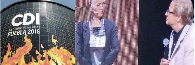Grandes invitados como Sophia el robot humano en el 2º día de actividades de la Ciudad de las Ideas 2018