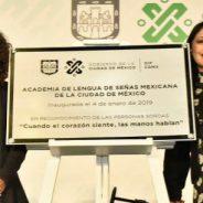 Inaugura el Gobierno de la Ciudad de México la primera Academia de Lengua de Señas Mexicana en la capital del país
