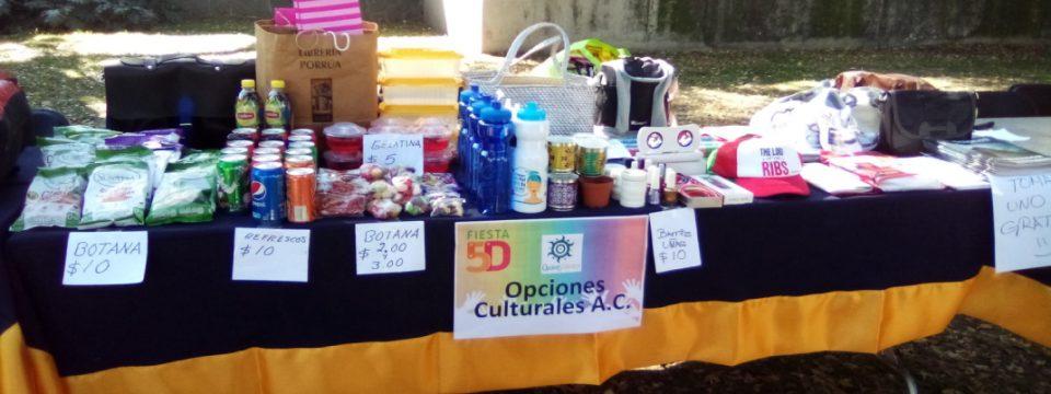 Por segundo año consecutivo Opciones Culturales A.C. participó en la Fiesta 5D 2019 en el marco del Día Internacional del Voluntariado