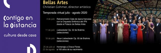 Inicia la temporada virtual 2020 de los Solistas Ensamble de Bellas Artes
