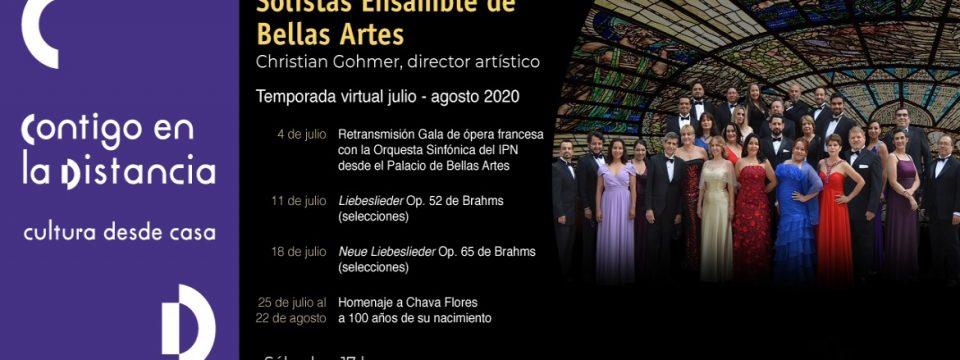 Inicia la temporada virtual 2020 de los Solistas Ensamble de Bellas Artes